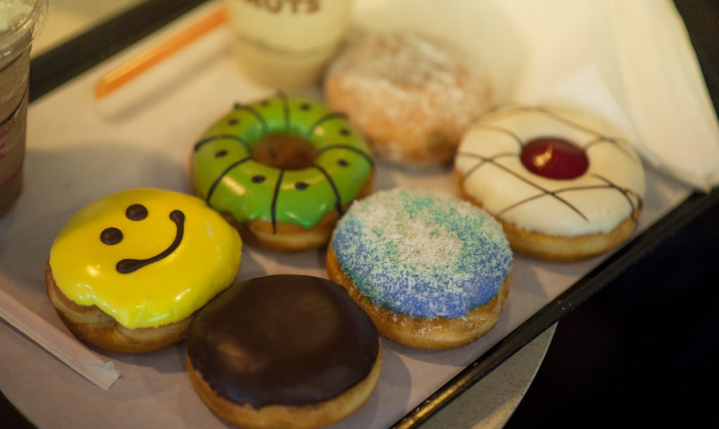 Donuts dans un carton